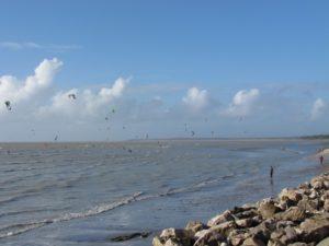 La plage du Crotoy & ses kitesurfs